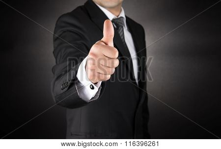 Businessman Gives a Thumb Up