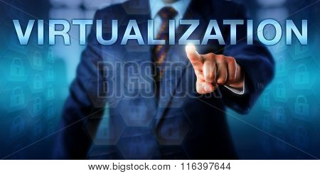 Manager Touching Virtualization On A Screen