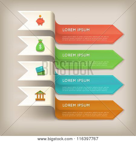 Finance banners horizontal set