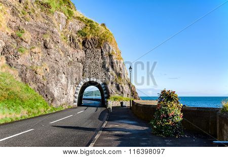 Coastal Road With Tunnel, Northern Ireland