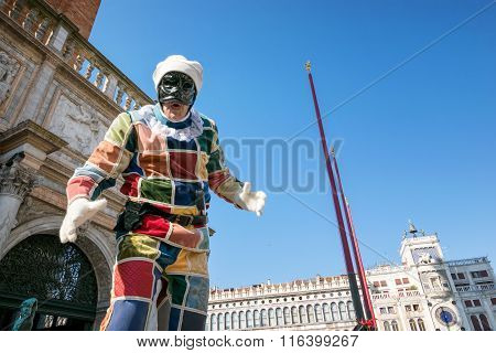 Harlequin at Venice carnival