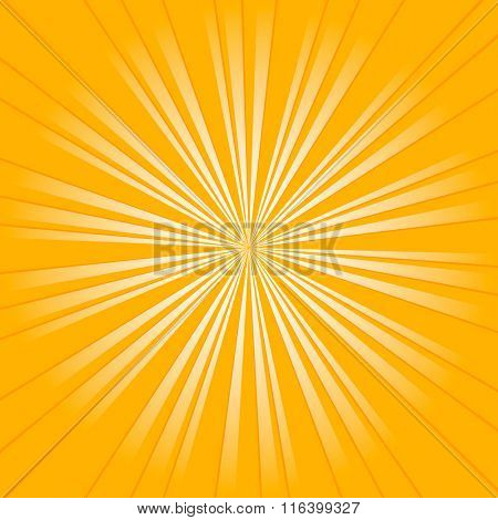 Sun Burst Design Vector Art