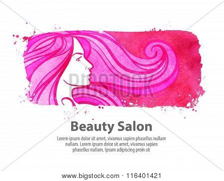 beauty shop, salon vector logo design template. cosmetic, makeup or barbershop icon