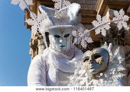 Winter carnival mask in Venice