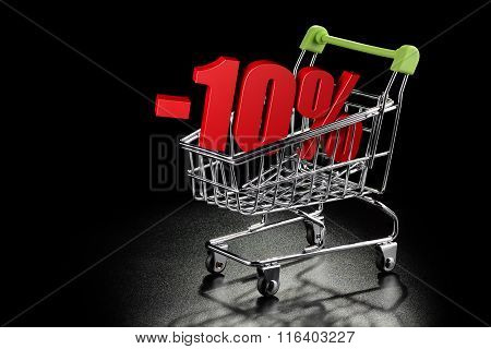 Shopping Cart With 10 % Percentage