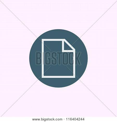 File Icon On Blue Circle Background