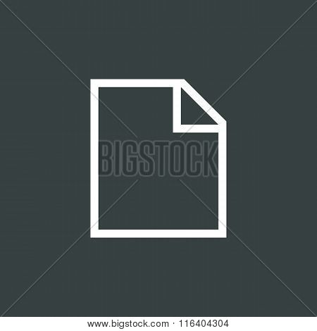 File Icon On Dark Background