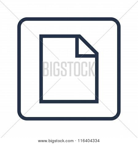 File Icon On Rounded Rectangle Background