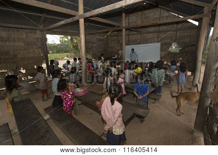 A Classroom At A Rural Primary School In A Small Village Just Outside The Famous Angkor Wat Temple C