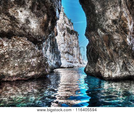 Cave In Orosei Gulf