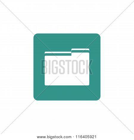 Folder Icon On Button Style Background
