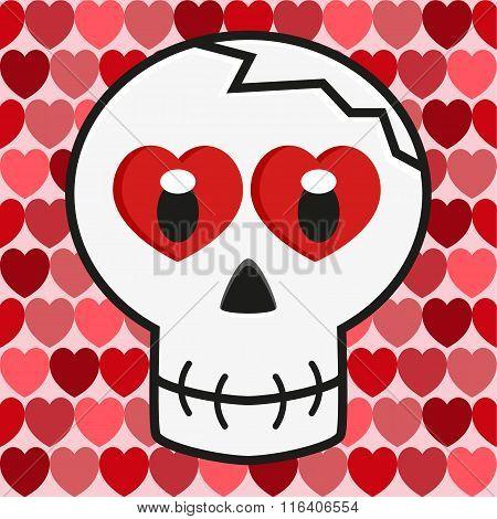 Valentine Love Skull