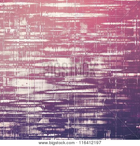 Retro background with old grunge texture. With different color patterns: pink; purple (violet); white; gray