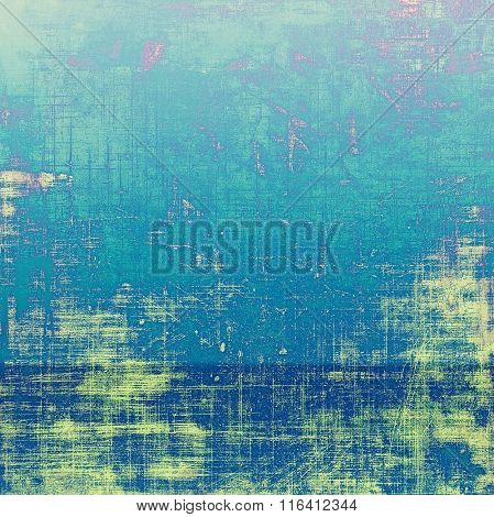 Abstract blank grunge background, old texture with stains and different color patterns: yellow (beige); pink; blue; green; cyan