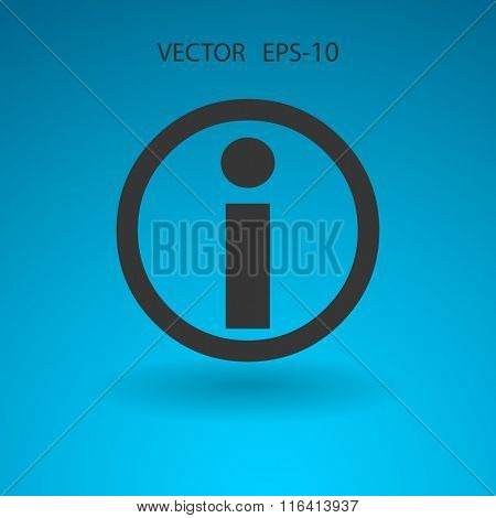 Flat icon of info