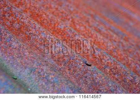 Rusty Corrugated Iron, Small Depth To Sharpness