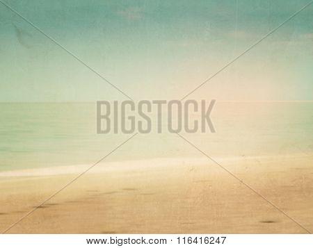 Retro beach background blurred - soft horizon in vintage design