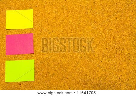 Corkboard With Coloured Sticky