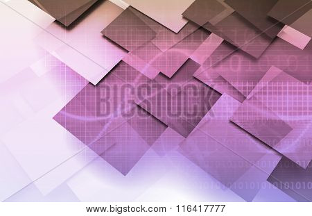 Medical Abstract Background as a Business Theme