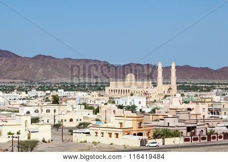 View Over Town Nakhl, Oman