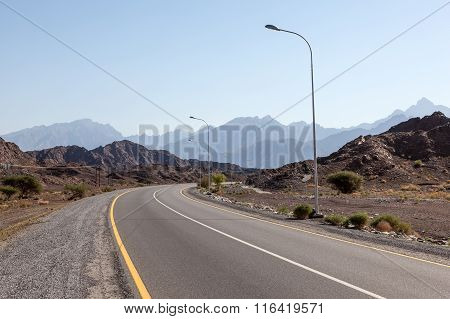 Road In Oman, Middle East