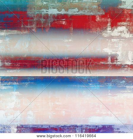 Abstract blank grunge background, old texture with stains and different color patterns: brown; red (orange); pink; blue; white