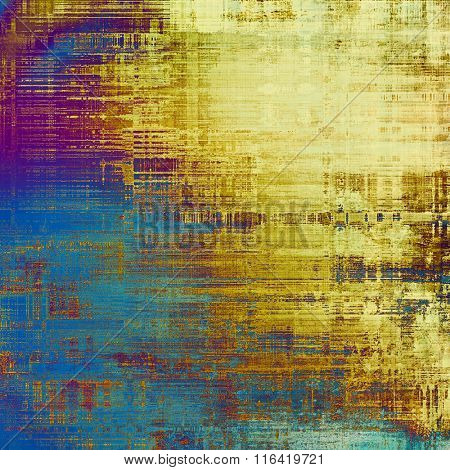Abstract old background or faded grunge texture. With different color patterns: yellow (beige); brown; purple (violet); blue; cyan