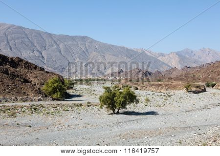 Wadi In Oman, Middle East
