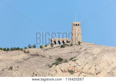 Tower On Top Of Sawadi Island, Oman