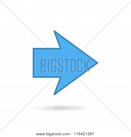 flat modern arrow