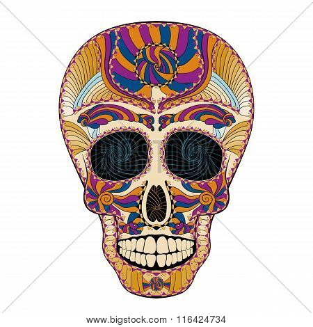 Dia De Muertos Tattoo Skull Day Of The Dead Colorful