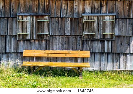 Bench In Small Village