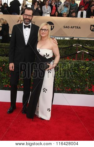 LOS ANGELES - JAN 30:  Patricia Arquette, Eric White at the 22nd Screen Actors Guild Awards at the Shrine Auditorium on January 30, 2016 in Los Angeles, CA