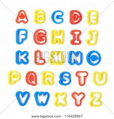 Full english alphabet isolated
