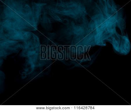 Abstract Aquamarine Smoke Hookah.