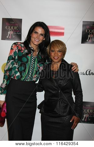 LOS ANGELES - JAN 29:  Angie Harmon, Sophia A. Nelson at the An Evening with The Woman Code Event at the City Club on January 29, 2016 in Los Angeles, CA
