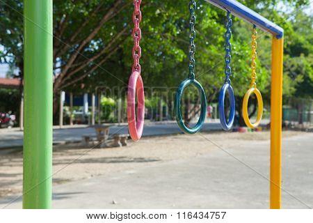 Children Playground Park In School.