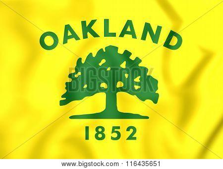 Flag Of Oakland City (california), Usa.