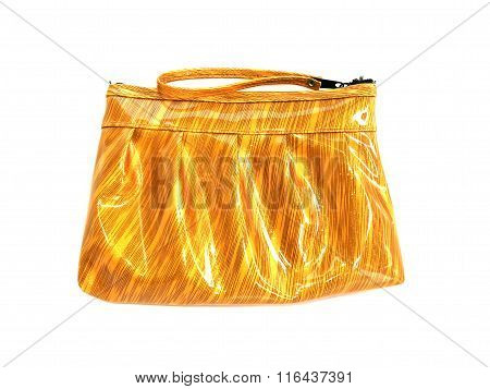 Purse Gold On Isolated