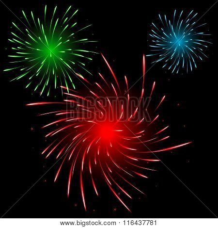 Festive Colorful Fireworks