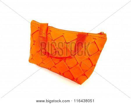 purse orange on isolated