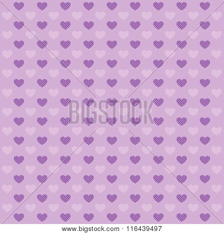 Hearts Lilac Pattern.