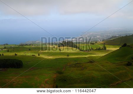 Landscape In  Sao Miguel Island In Azores