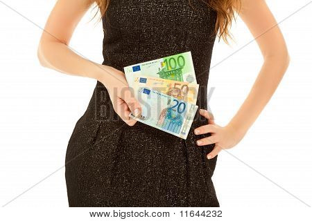 Woman's Hands With Banknotes
