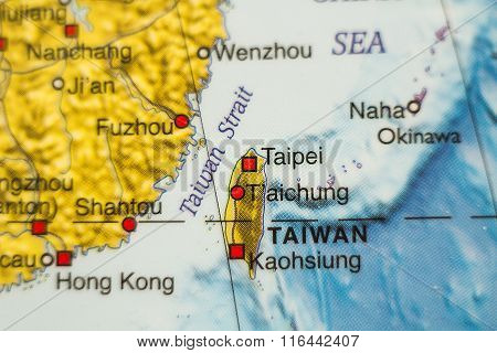 Taiwan Country Map .