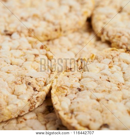 Surface covered with rice crackers