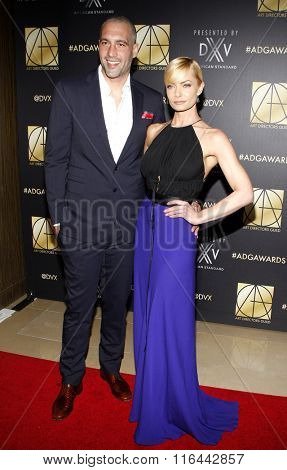Hamzi Hijazi and Jaime Pressly at the 20th Annual Art Directors Guild Excellence In Production Design Awards held at the Beverly Hilton Hotel in Beverly Hills, USA on January 31, 2016.