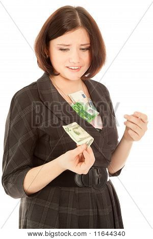 Woman With Banknotes