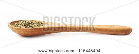 Wooden spoon of rosmarinus