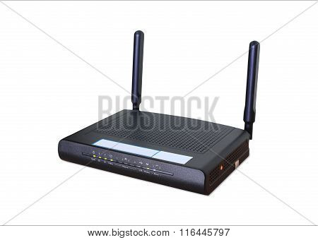 Wireless Wi-fi Router Isolated White Background, Use Clipping Path